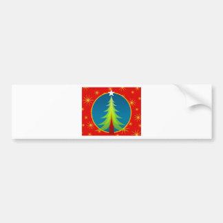 Oh árbol de navidad pegatina de parachoque
