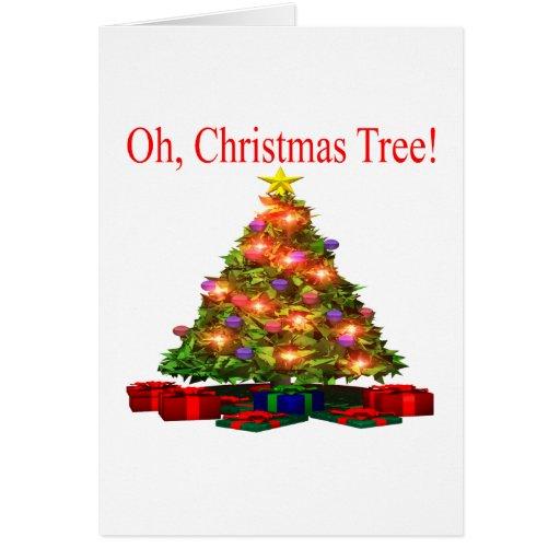 Oh árbol de navidad felicitación