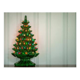 ¡Oh árbol de navidad moderno de los mediados de Postales