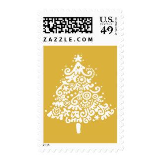 Oh árbol de navidad (ocre) sello