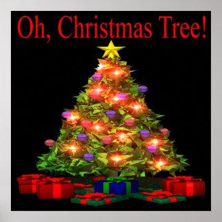 Oh árbol de navidad impresiones