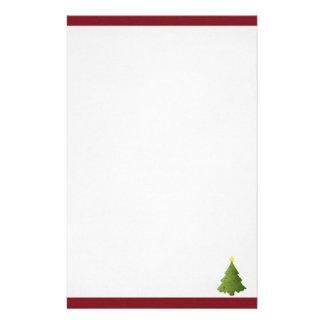 Oh árbol de navidad papelería personalizada