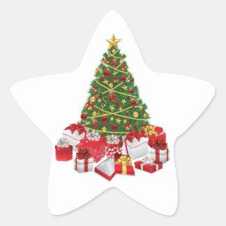 Oh árbol de navidad pegatinas forma de estrella