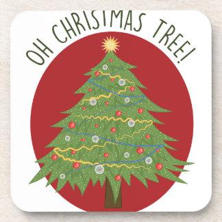 Oh árbol de navidad posavasos de bebida