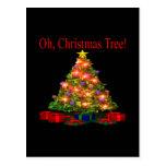 Oh árbol de navidad postal