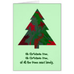 oh árbol de navidad tarjeta