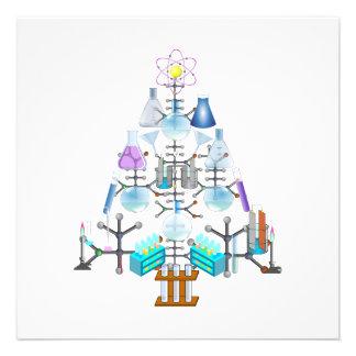 Oh árbol del químico oh árbol de navidad invitaciones personales