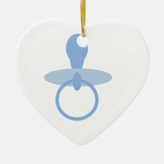 Oh azules cielos adorno de cerámica en forma de corazón