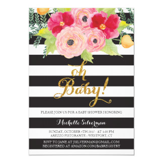 Oh Baby! 5x7 Paper Invitation Card