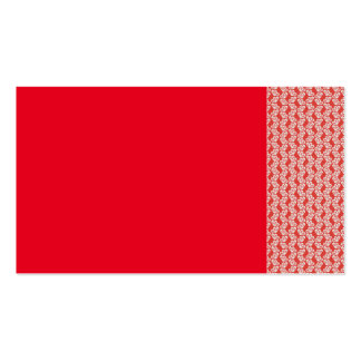 oh-baby-baby red white floral design patterns back Double-Sided standard business cards (Pack of 100)