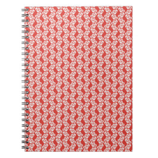 oh-baby-baby red white floral design patterns back spiral notebooks