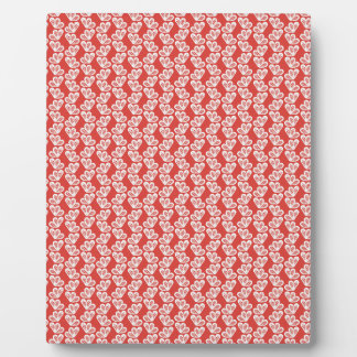 oh-baby-baby red white floral design patterns back display plaque