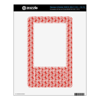 oh-baby-baby red white floral design patterns back NOOK decal