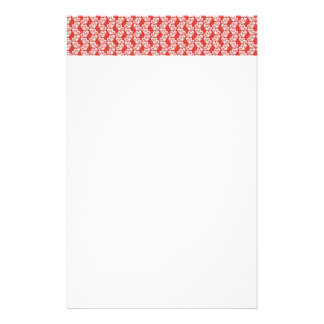 oh-baby-baby red white floral design patterns back stationery paper