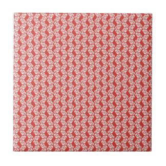 oh-baby-baby red white floral design patterns back ceramic tile