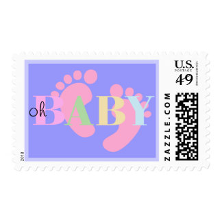 Oh BABY Birth Announcement and Baby Shower Postage