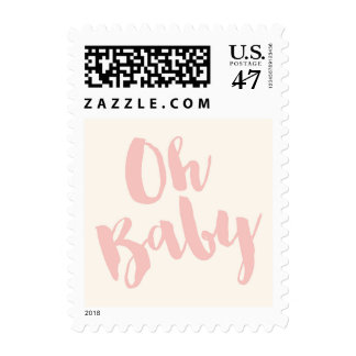 Oh Baby Birth Announcement & Baby Shower postage
