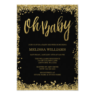 black gold baby shower invitations & announcements | zazzle, Baby shower invitations