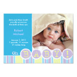 "Oh baby blue announcement 5"" x 7"" invitation card"