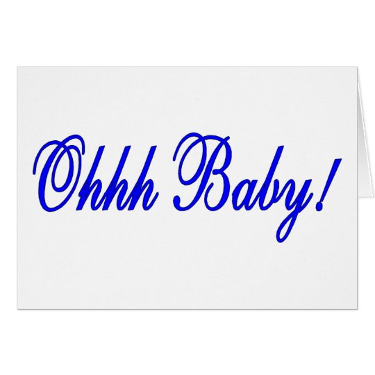 Oh Baby (Blue) Card