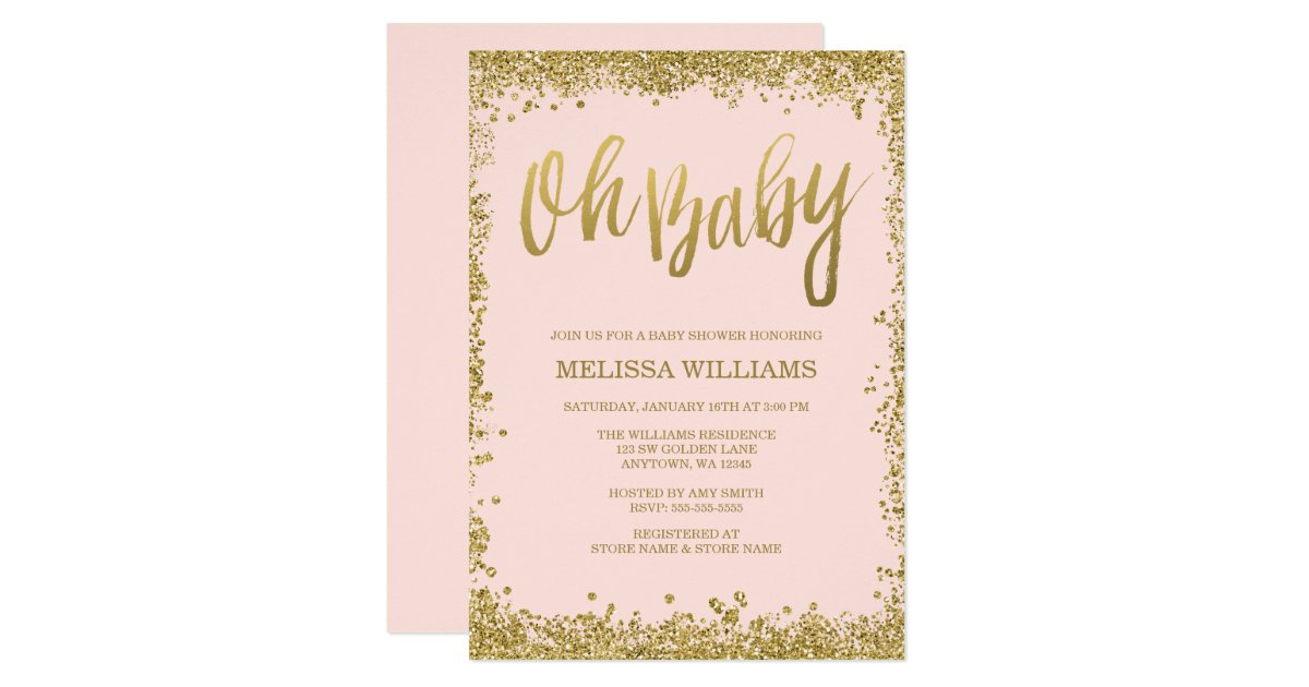Pink And Gold Baby Shower Invitations – gangcraft.net