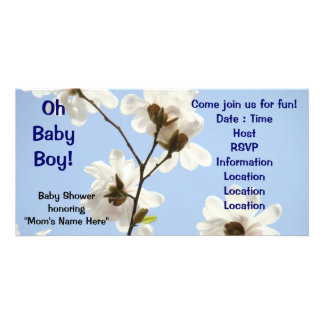 Oh Baby Boy! invitations Baby shower Magnolia