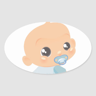 Oh Baby Boy Oval Sticker