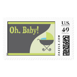 Oh Baby! Carriage Invitation Set - Stamps Large