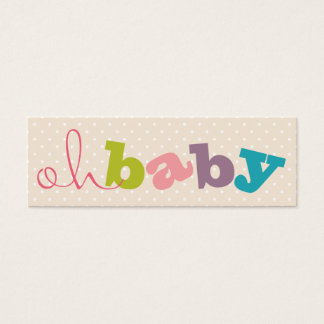 OH BABY!   COLORFUL BABY SHOWER REGISTRY CARDS