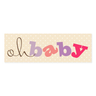 OH BABY! | COLORFUL BABY SHOWER REGISTRY CARDS BUSINESS CARDS