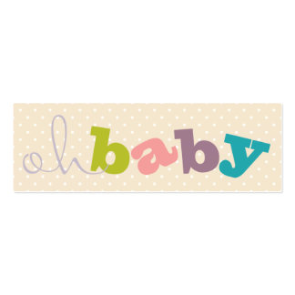 OH BABY!   COLORFUL BABY SHOWER REGISTRY CARDS Double-Sided MINI BUSINESS CARDS (Pack OF 20)