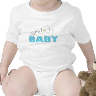 Oh Baby Elephant Baby Bodysuits