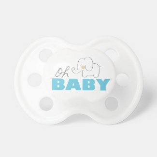 Oh Baby Elephant - Pacifier Pacifiers