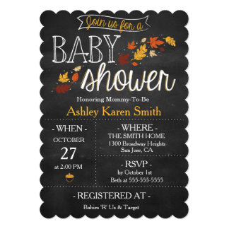 Oh Baby Fall Baby Shower Invitations