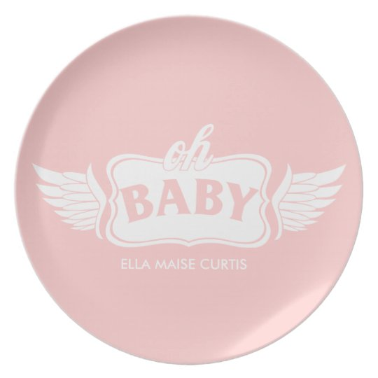 Oh Baby Girl Personalized Shower Gift Plate