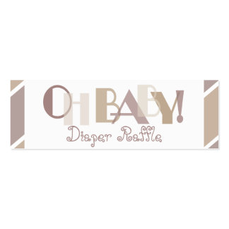 Oh Baby MOcha Modern Diaper Raffle Double-Sided Mini Business Cards (Pack Of 20)