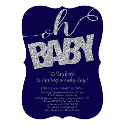 boy oh boy chic chevron baby shower invitation | zazzle, Baby shower invitations
