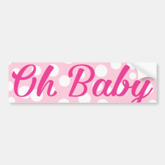 Oh Baby Personalized Pink Girly Girl Bumper Sticker