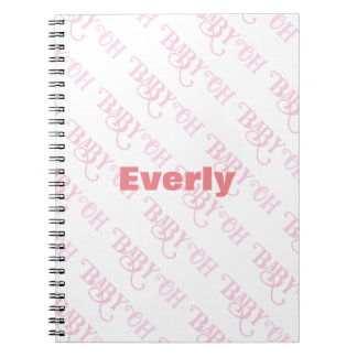 Oh Baby Personalized Pink Girly Girl Spiral Notebook