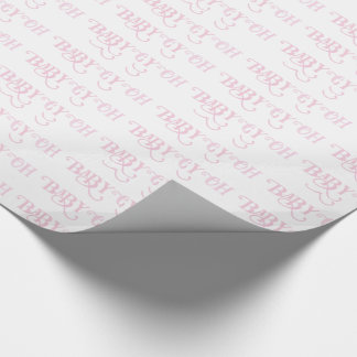 Oh Baby Personalized Pink Girly Girl Wrapping Paper
