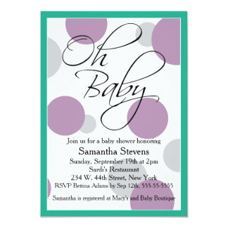 Oh Baby Posh Gender Neutral Baby Shower Card