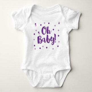 Oh Baby   Purple Confetti Dots Baby Bodysuit
