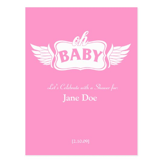 Oh Baby! Shower Announcement Postcard