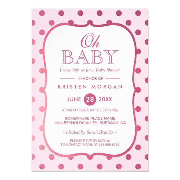 73 gorgeous polka dots baby shower invitations mimoprints