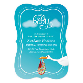Oh Baby! Stork Baby Shower invitation