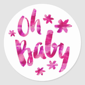 Oh Baby Sugar and Spice Baby Shower Classic Round Sticker