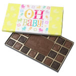 Oh Baby! Yellow - Baby Shower 45 Piece Box Of Chocolates