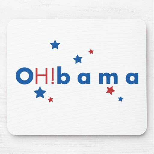 OH!bama - Blue & Red Stars Mouse Pad