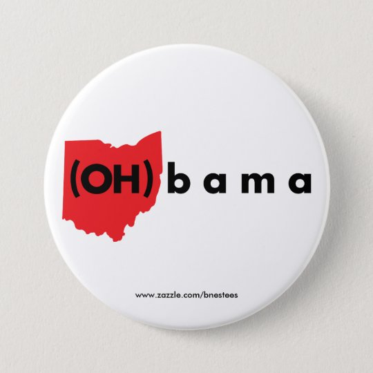 (OH)bama - Red and Black Button