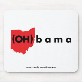 (OH)bama - Red and Black Mouse Pad